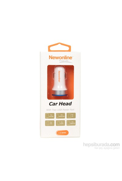 Newonline 2x USB Araç Şarj Cihazı (2.1A) - NW-CAR2HEAD