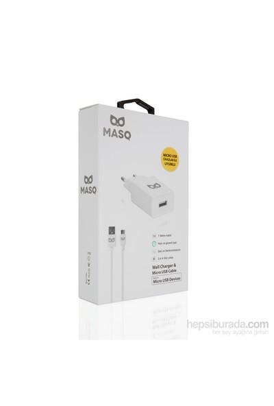 Masq 2.4A Wall Charger Black+1M Micro
