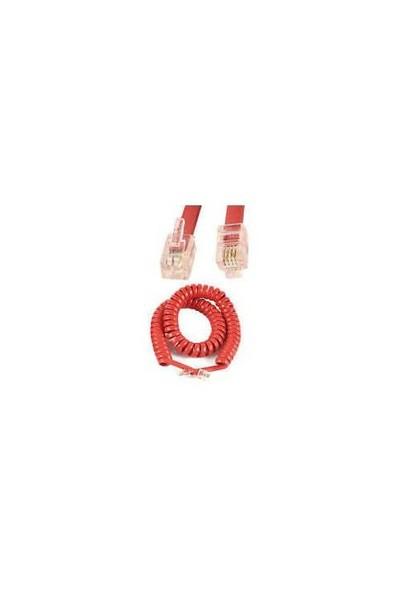Ttec Telefon Ahize Kablosu 2 Metre Kırmızı