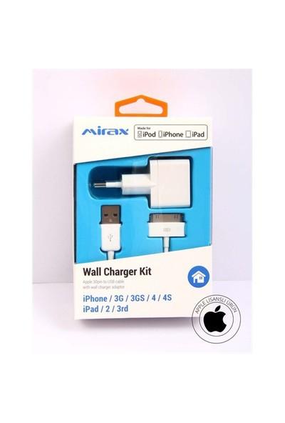 Mirax iPhone 4/4S/iPad&iPod Şarj Cihazı (Apple Lisanslı) - mirax SWT-4210