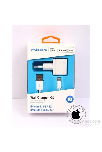 Mirax iPhone 6/6Plus/5/5S/5C/iPad/iPod Şarj Cihazı (Apple Lisanslı) - mirax SWT-5210