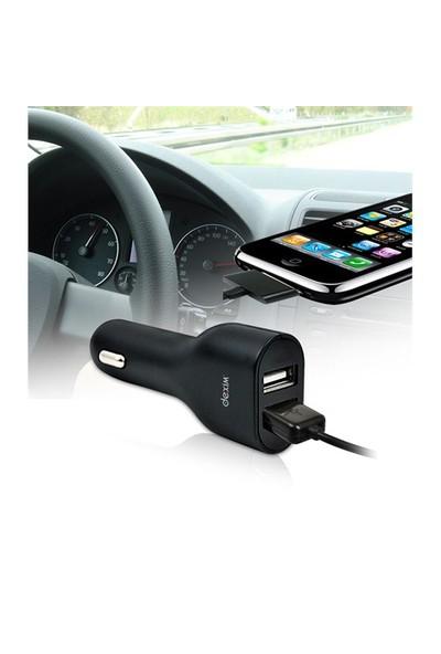 Dexim Dca154 Dual USB Araç Şarj Cihazı Siyah iPhone / iPod