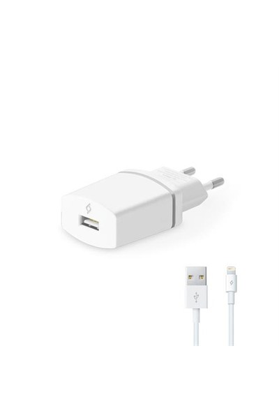 Ttec Compact Seyahat Şarj Cihazı Lightning Kablolu 1000Ma Beyaz