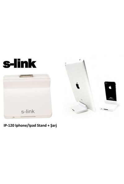S-Link Ip-120 Şarj Aleti 3Lü Çakmak Çok/Usb Iphone/Ipad Stand + Şarj