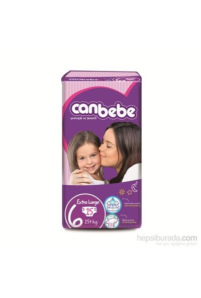 Canbebe Bebek Bezi Süper Ekonomi 4'lü Paket 6 Beden 60 Adet