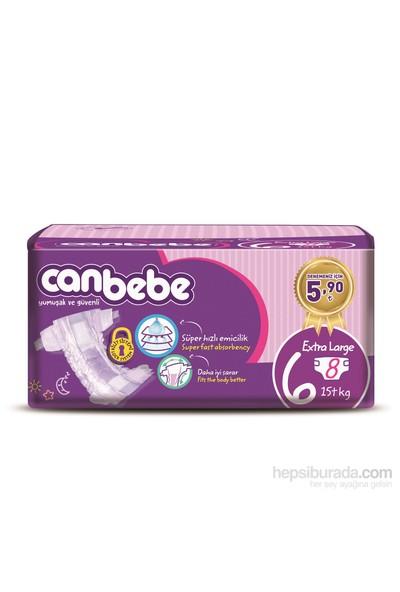 Canbebe Bebek Bezi Deneme Paketi 6 Beden 8 Adet