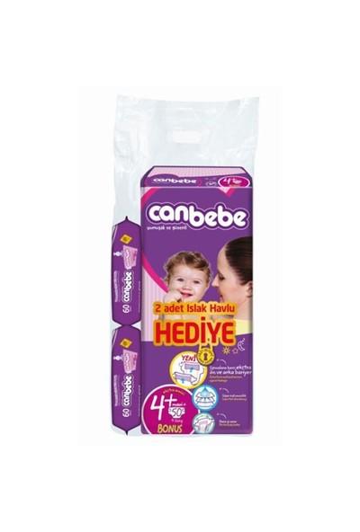 Canbebe Bebek Bezi Bonus Paket 4+ Beden 50 Adet