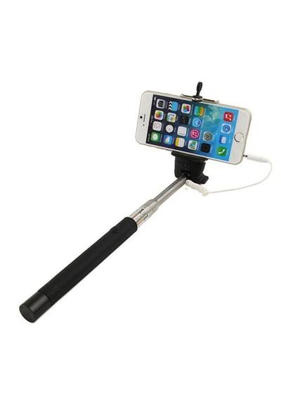 Case 4u Kablolu Selfie Çubuğu Siyah