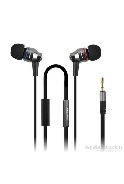 Mirax Deep Bass Mikrofonlu Metal Kulaklık - Siyah (Apple&Android Uyumlu,Konuşma&Müzik Kontrolü) - mirax SSE-5150