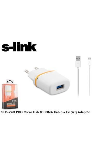 S-Link Slp-240 Pro Micro Usb 1000Ma Kablo + Ev Şarj Adaptör