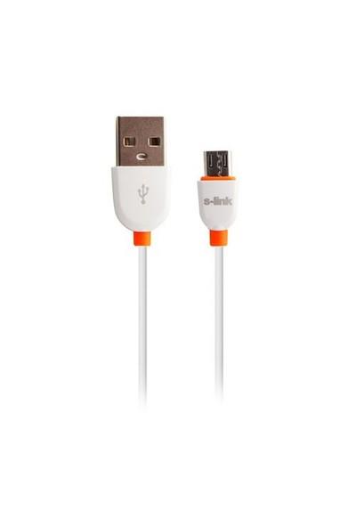 S-Link Slp-505 Akıllı Telefonlar Ve Tablet Micro Usb Beyaz Data + Şarj Kablosu