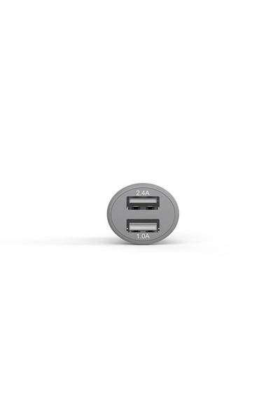 Lityus Çift Çıkışlı Araç Şarj Cihazı + Lightning Kablo (Siyah) - AKLCCD039901