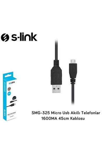 S-Link Smg-325 Micro Usb Akıllı Telefonlar 1600Ma 45Cm Kablosu