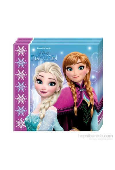KullanAtMarket Frozen Buz Işıltısı Kağıt Peçete 33X33cm 20 Adet