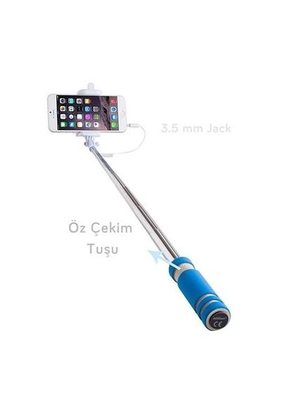 Addison AD-S30 Kablolu Mavi Selfie Çekim Çubuğu