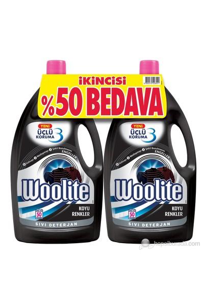 Woolite Koyu Renkler Çamaşırlar Sıvı Deterjan 2,6 lt + 2,6 lt 2.si %50 İndirimli kk
