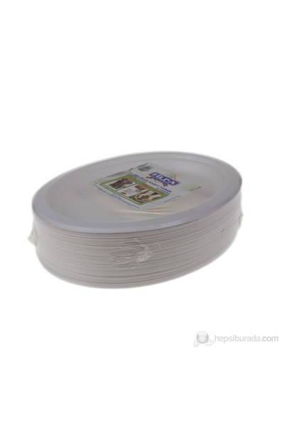 Filpa 21 x 26 cm Oval Selüloz Kağıt Tabak 50 Adet = 1 Paket