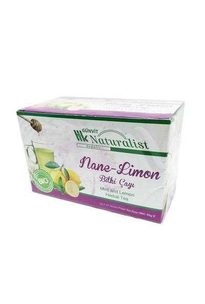 Günvit Naturalist Nane-Limon Bitki Çayı 20 Süzen