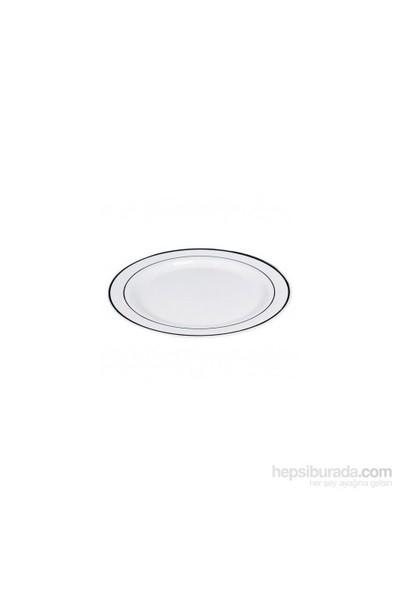 KullanAtMarket Porselen Görünümlü Plastik Tabak 26 cm 6 Adet