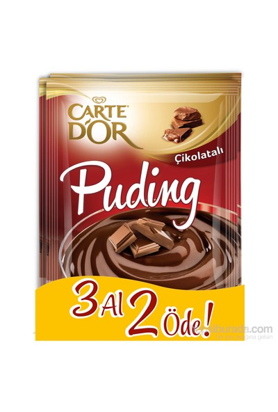 CarteD'or Çikolatalı Puding 3 Al 2 Öde 327 Gr