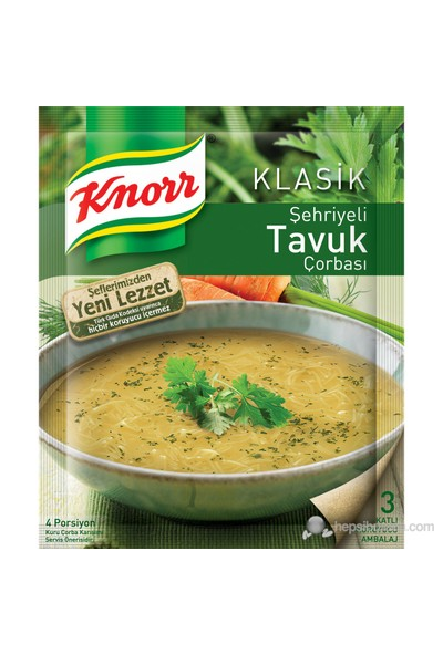 Knorr Şehriyeli Tavuk Çorbası 58 gr KAPALI