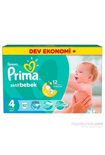 Prima Bebek Bezi Yeni Bebek Dev Ekonomi Plus 4 Beden 82 Adet
