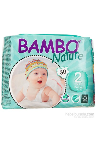 Bambo Nature Bebek Bezi 2 Beden 30 Adet