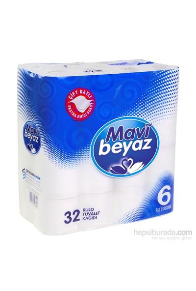 Mavi Beyaz Çift Kat Tuvalet Kağıdı 32'li
