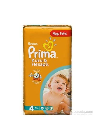 Prima Bebek Bezi Kuru Ve Hesaplı Mega Paket 4 Beden 60 Adet