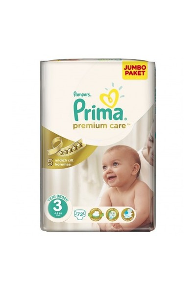 Prima Bebek Bezi Premium Care Jumbo 3 Beden 72 Adet