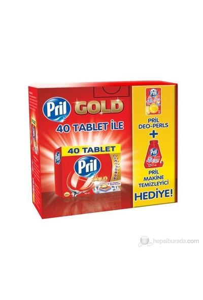 Pril Gold 40 tablet + Deo Pearls + Makine Temizleyici