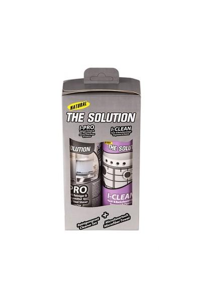 The Solution I-set Ankastre, Beyaz Eşya, Inox- Paslanmaz Çelik, Cam, Ocak Fırın Yağ Sökücü, Temizleyici, Temizleme ile Koruyucu ve Parlatıcı Bakım Spreyi, Temizlik Seti, I-Clean ve I-Pro