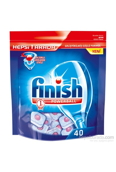 Finish Hepsi Bir Arada 40 Tablet Bulaşık Makinesi Deterjanı
