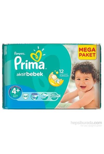 Prima Bebek Bezi Aktif Bebek Mega Paket 4+ Beden 44 Adet