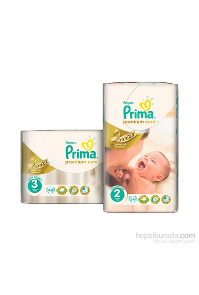 Prima Bebek Bezi Premium Care 2 + 3 Beden 102 Adet