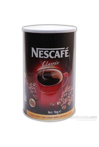 Nescafé Classic Çözünebilir Kahve 1kg Teneke Kutu