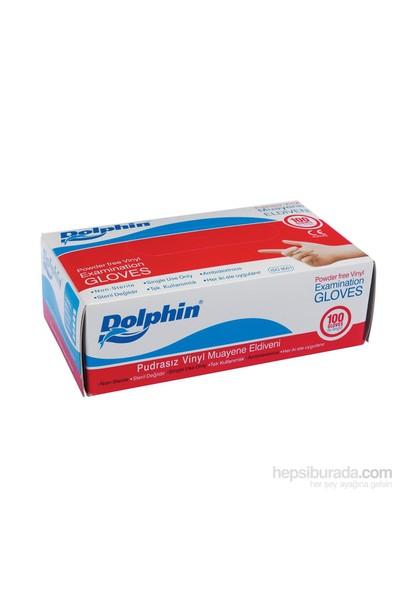 Dolphin Beyaz Vinil Eldiven Pudrasız (M) 100 lü Paket