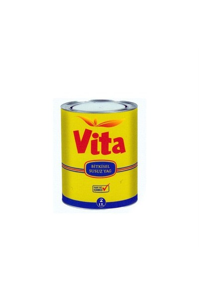 Vita Susuz Margarin 2 Litre Teneke Kutu