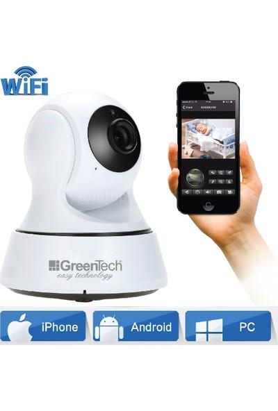 Greentech GT-IP23HD Hareketli Kablosuz Gece Görüşlü Güvenlik ve Bebek Kamerası