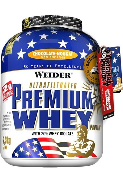 Weider Premium Whey Protein Tozu 2300 Gr Çikolata (Orijinal Distribütör Bandrollü)