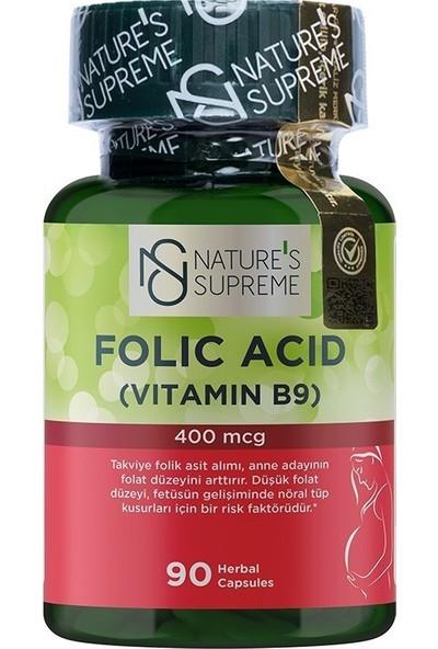 Nature's Supreme Folic Acid 400 Mcg 90 Kapsül