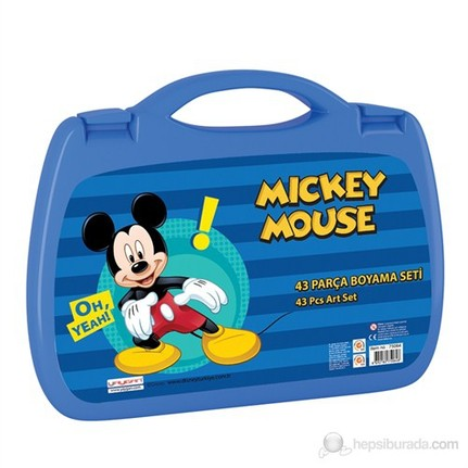 Mickey Mouse Boyama Seti 43 Parça Lacivert Sarı Fiyatı