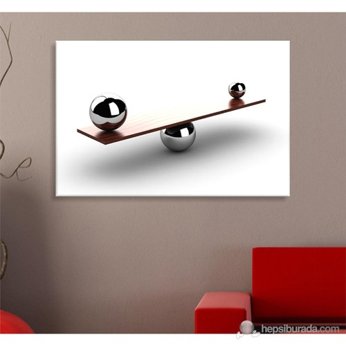 Dengede Bilyalar Dekoratif Kanvas Tablo