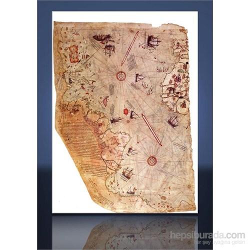 Piri Reis Haritası Kanvas Tablo