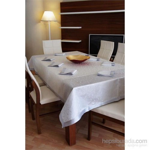 Special Home Leke Tutmaz Masa Örtüsü - Gümüş