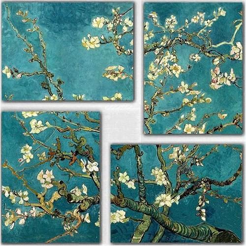Tictac 4 Parça Kanvas Tablo - Van Gogh