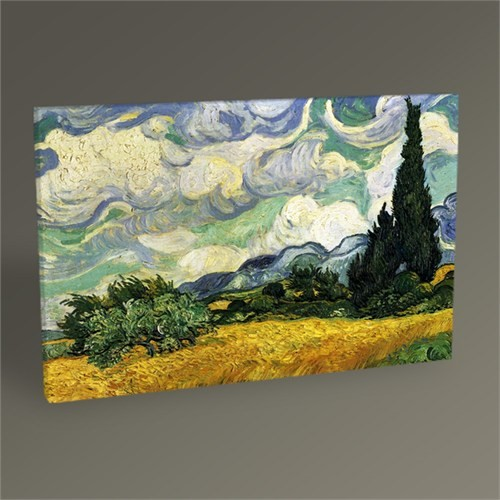 Tablo 360 Vincent Van Gogh-Wheat Field With Cypresses At The Haute Galline Near Eygalieres 45X30