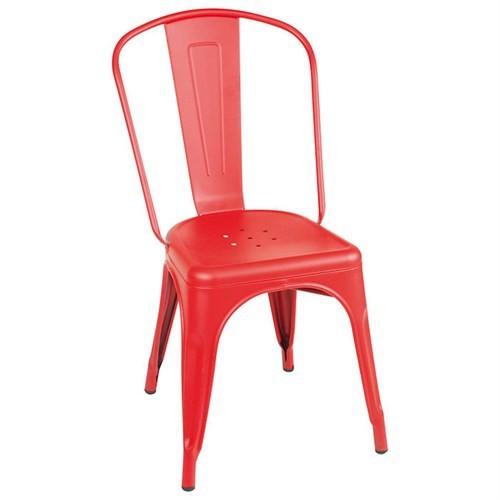 Altıncı Cadde Sandalye Mat Kırmızı