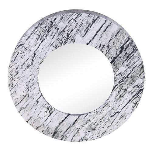 Altıncı Cadde Duvar Aynası Natural Yuvarlak 60 Cm