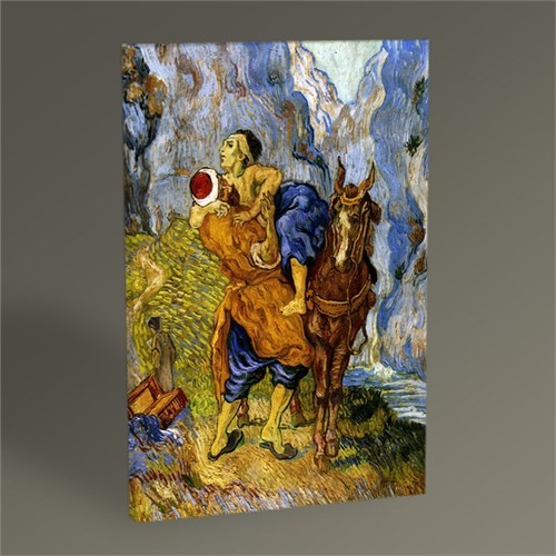 Tablo 360 Vincent Van Gogh-The Good Samaritan 45X30